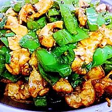 青椒炒鸡胸脯肉