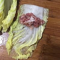 肉末白菜卷的做法图解6