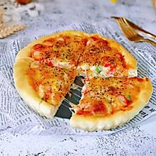 蟹肉罗勒披萨#肉食者联盟#