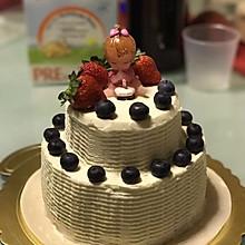 双层奶油戚风蛋糕