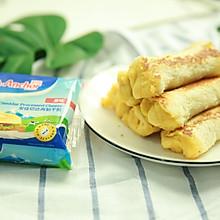 芝士熔岩吐司卷#安佳儿童创意料理#