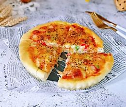 蟹肉罗勒披萨#肉食者联盟#的做法