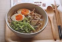 日式五花肉荞麦面#换着花样吃早餐#的做法