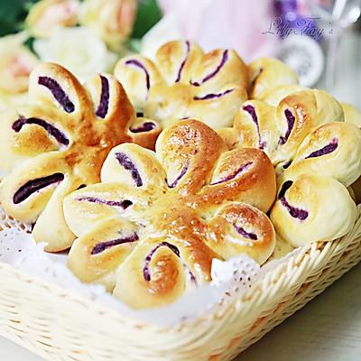 紫薯太阳花包:给点阳光就灿烂