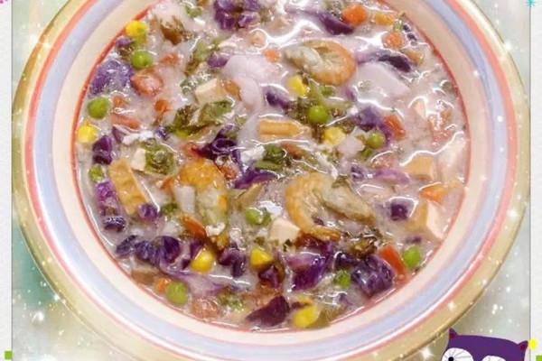 彩虹年糕汤的做法