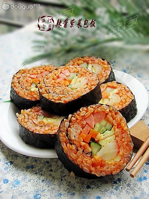 韩式辣酱紫菜包饭的做法