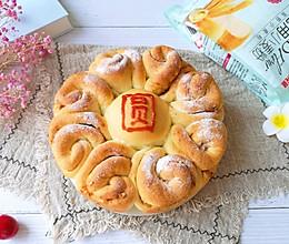 #爱好组-高筋复赛#花好月圆夹馅面包的做法
