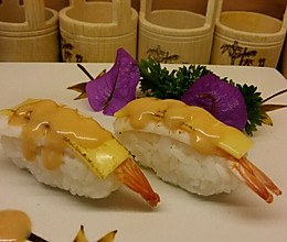 寿司(芝士焗虾手握寿司配简易千岛酱)的做法