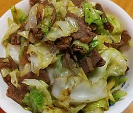 酱牛肉炒卷心菜的做法