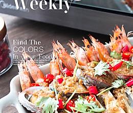 蒜蓉海鲜美的蒸箱版的做法