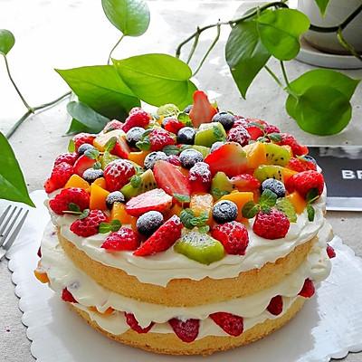 水果奶油裸蛋糕(八寸)