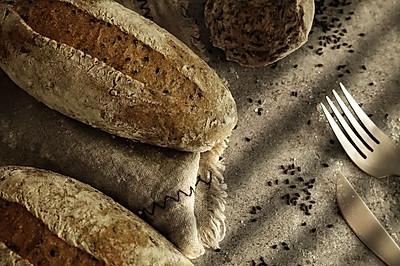 无油无糖全麦芝麻面包