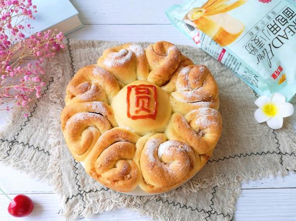 花好月圆夹馅面包的做法