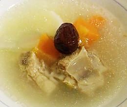 清炖山药排骨汤(快手电饭煲版),夏日清补养生靓汤煲汤的做法