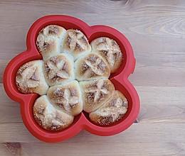 砂糖花朵面包的做法