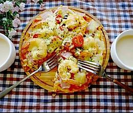 鲜虾培根薄底至尊披萨的做法