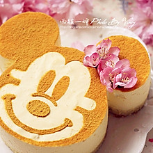 花朵米妮芒果冻芝士蛋糕