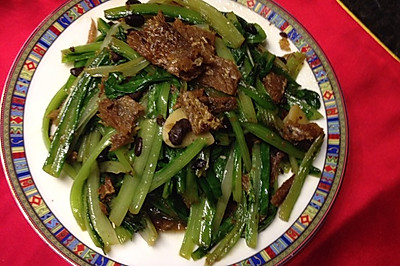 豆豉鲮鱼油麦菜