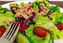 减脂晚餐之金枪鱼沙拉的做法