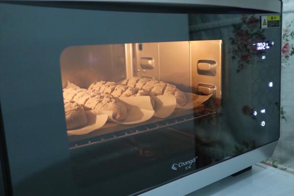 长帝蒸烤箱食谱-核桃红枣乳酪欧包的做法图解15