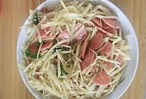 土豆丝炒火腿肠的做法