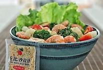 花菜虾仁沙拉#丘比沙拉汁#的做法