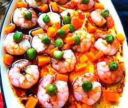 鲜蔬虾仁炖蛋。的做法