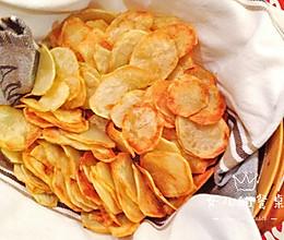 咔滋咔滋 炸薯片 #带着零食去旅行!#的做法