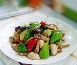 黄瓜炒杂菇的做法