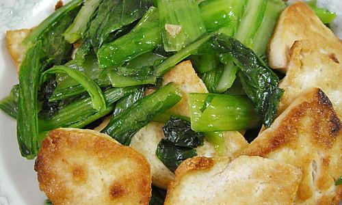 小白菜烧豆腐的做法