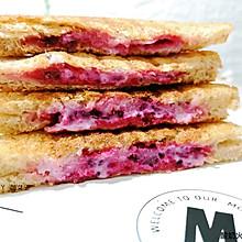 酸奶火龙果三明治#麦子厨房#早餐机