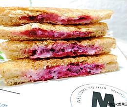 酸奶火龙果三明治#麦子厨房#早餐机的做法