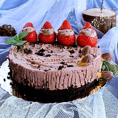 圣诞树桩慕斯蛋糕