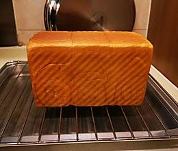 #爱好组-高筋#面包机出手套膜→柔软拉丝奶香吐司的做法