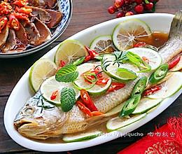 泰式青柠檬蒸鱼#盛年锦食·忆年味#的做法