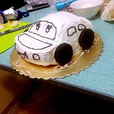 汽车蛋糕的做法 步骤5