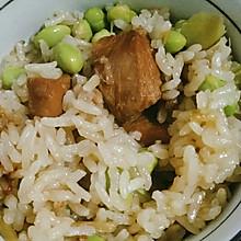 懒人版海南鸡毛豆炖饭
