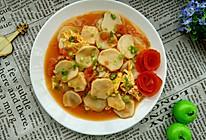 茄汁杏鲍茹炒蛋的做法