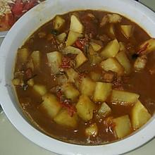 西红柿土豆炖猪肉
