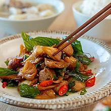 #快手又营养,我家的冬日必备菜品#三杯猴头菇|爽滑鲜美