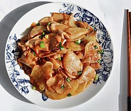 杏鲍菇蚝汁土豆片的做法