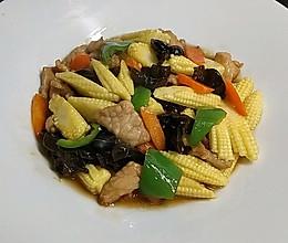 肉片玉米笋的做法