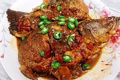 干烧海鲈鱼