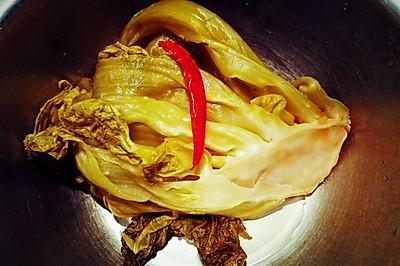 酸菜泡菜之大葉青菜