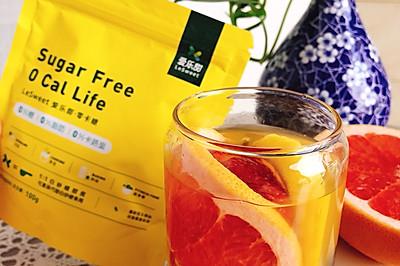 低卡0糖的西柚柠檬水果茶