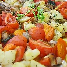 土豆番茄红萝卜焗鸡肉