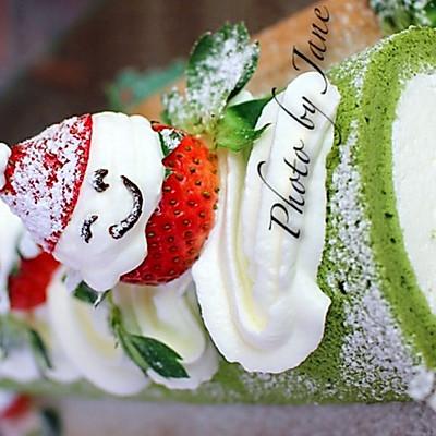小雪人抹茶蛋糕卷