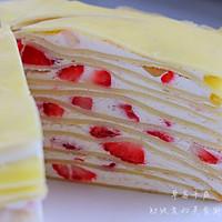 草莓,芒果千层蛋糕的做法图解22