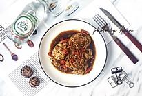 低脂蛋白·鸡蓉茄子酿的做法