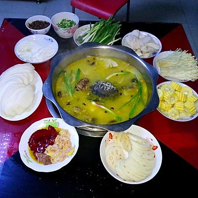 土鸡甲鱼汤锅